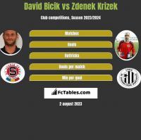 David Bicik vs Zdenek Krizek h2h player stats