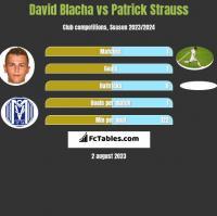 David Blacha vs Patrick Strauss h2h player stats