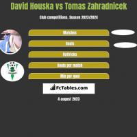 David Houska vs Tomas Zahradnicek h2h player stats