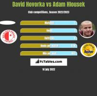 David Hovorka vs Adam Hlousek h2h player stats