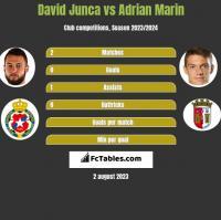 David Junca vs Adrian Marin h2h player stats