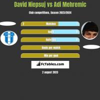 David Niepsuj vs Adi Mehremic h2h player stats