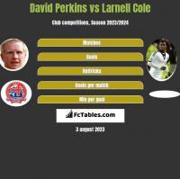 David Perkins vs Larnell Cole h2h player stats