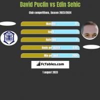 David Puclin vs Edin Sehic h2h player stats