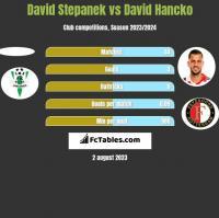 David Stepanek vs David Hancko h2h player stats