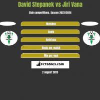 David Stepanek vs Jiri Vana h2h player stats