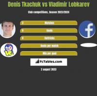 Denis Tkachuk vs Vladimir Lobkarev h2h player stats
