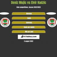 Deniz Mujic vs Elvir Hadzic h2h player stats