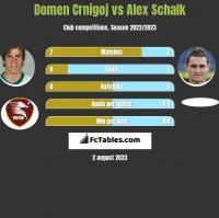 Domen Crnigoj vs Alex Schalk h2h player stats