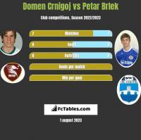 Domen Crnigoj vs Petar Brlek h2h player stats