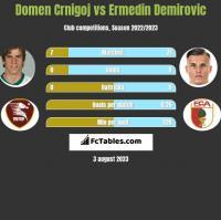 Domen Crnigoj vs Ermedin Demirovic h2h player stats