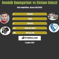 Dominik Baumgartner vs Stefano Celozzi h2h player stats