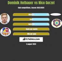 Dominik Hofbauer vs Nico Gorzel h2h player stats