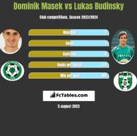 Dominik Masek vs Lukas Budinsky h2h player stats