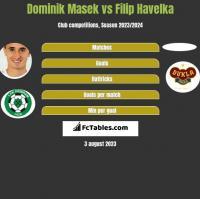 Dominik Masek vs Filip Havelka h2h player stats