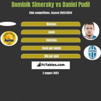 Dominik Simersky vs Daniel Pudil h2h player stats