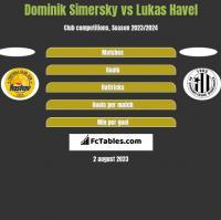 Dominik Simersky vs Lukas Havel h2h player stats