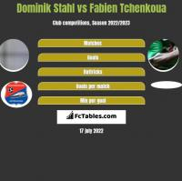 Dominik Stahl vs Fabien Tchenkoua h2h player stats