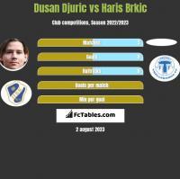 Dusan Djuric vs Haris Brkic h2h player stats