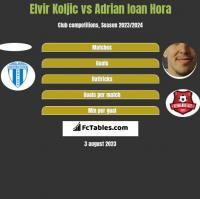 Elvir Koljic vs Adrian Ioan Hora h2h player stats