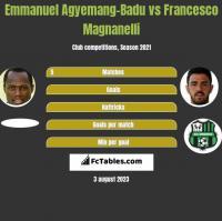 Emmanuel Agyemang-Badu vs Francesco Magnanelli h2h player stats