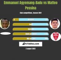 Emmanuel Agyemang-Badu vs Matteo Pessina h2h player stats