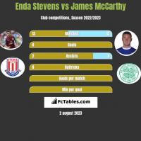 Enda Stevens vs James McCarthy h2h player stats