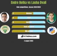 Endre Botka vs Lasha Dvali h2h player stats