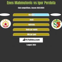 Enes Mahmutović vs Igor Perduta h2h player stats