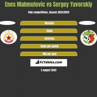 Enes Mahmutović vs Sergey Yavorskiy h2h player stats