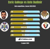 Enric Gallego vs Ante Budimir h2h player stats