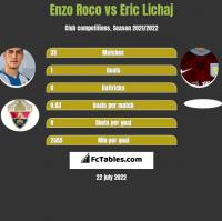 Enzo Roco vs Eric Lichaj h2h player stats