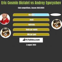 Eric Cosmin Bicfalvi vs Andrey Egorychev h2h player stats