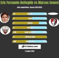 Eric Fernando Botteghin vs Marcos Senesi h2h player stats