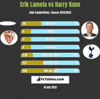 Erik Lamela vs Harry Kane h2h player stats