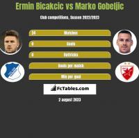 Ermin Bicakcic vs Marko Gobeljic h2h player stats