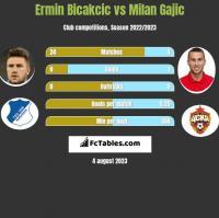 Ermin Bicakcic vs Milan Gajic h2h player stats