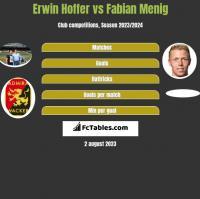 Erwin Hoffer vs Fabian Menig h2h player stats