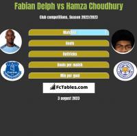 Fabian Delph vs Hamza Choudhury h2h player stats