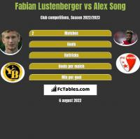 Fabian Lustenberger vs Alex Song h2h player stats