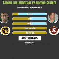 Fabian Lustenberger vs Domen Crnigoj h2h player stats