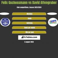 Felix Gschossmann vs David Affengruber h2h player stats