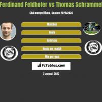 Ferdinand Feldhofer vs Thomas Schrammel h2h player stats