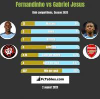 Fernandinho vs Gabriel Jesus h2h player stats