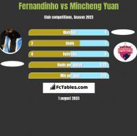 Fernandinho vs Mincheng Yuan h2h player stats