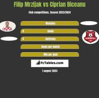 Filip Mrzljak vs Ciprian Biceanu h2h player stats
