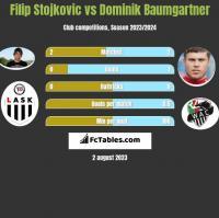 Filip Stojkovic vs Dominik Baumgartner h2h player stats
