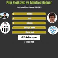 Filip Stojkovic vs Manfred Gollner h2h player stats