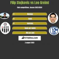 Filip Stojkovic vs Leo Greiml h2h player stats
