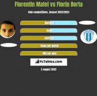 Florentin Matei vs Florin Borta h2h player stats